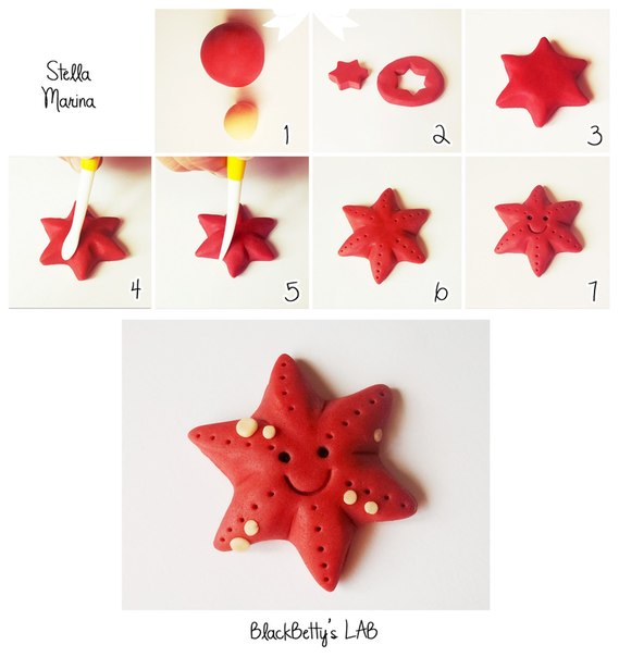 Морская звезда из пластилина