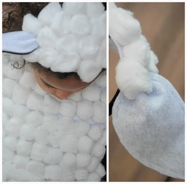 Детский костюм овечки своими руками