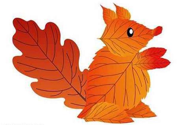 Поделки из листьев для детей