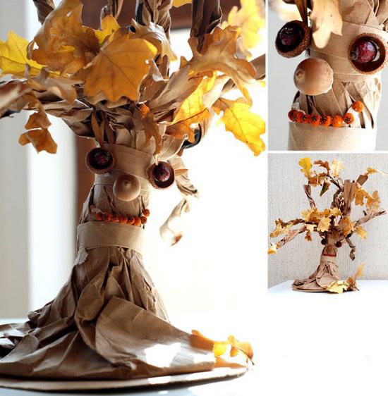 Осеннее дерево своими руками