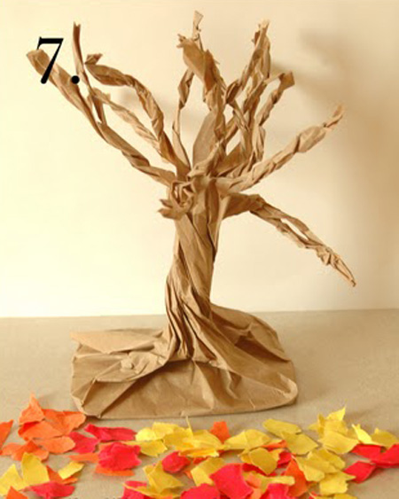 Поделка дерево осень руками пошагово 88