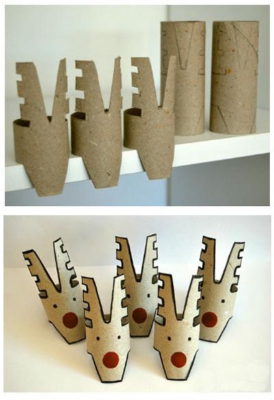 Новогодние гирлянды из рулонов от туалетной бумаги