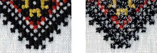 Крестик - машинная вышивка