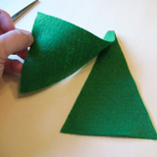 Елочные игрушки из ткани