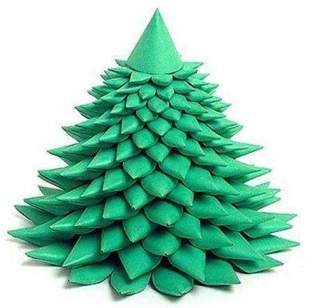 Новогодняя елка из бумаги
