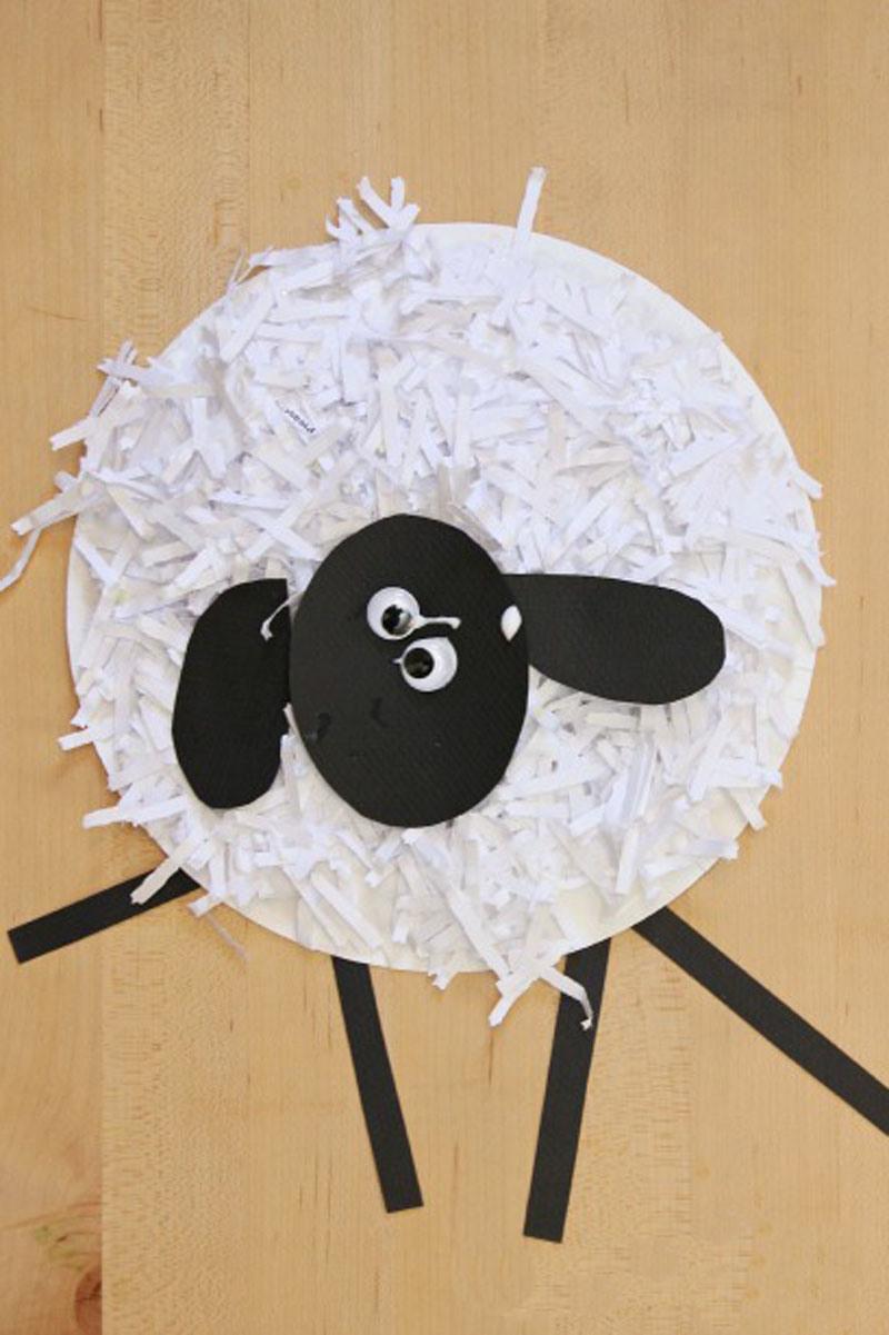 Как сделать овечку из бумаги