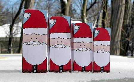 Дед Мороз - матрешка из бумаги