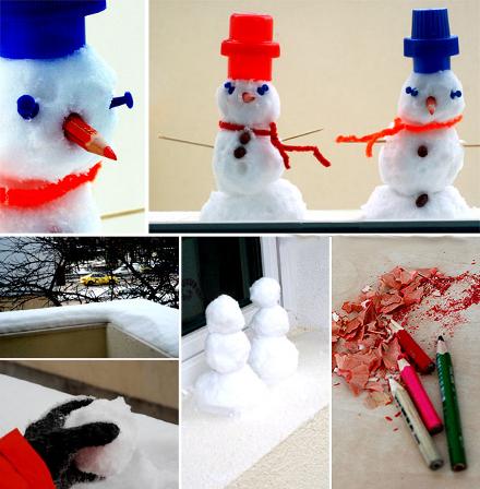 Лепим необычного снеговика