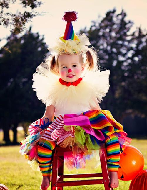 Костюм клоуна для девочки своими руками