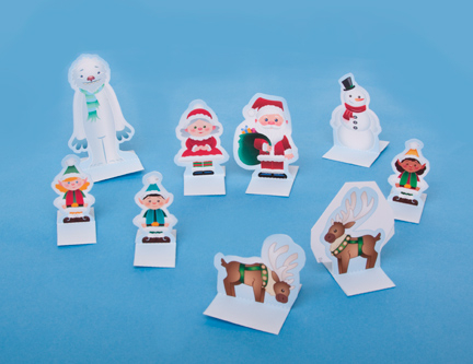 Дед Мороз и его помощники из бумаги