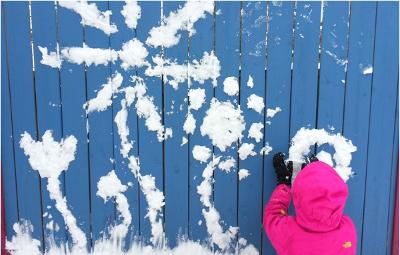 Рисование снегом