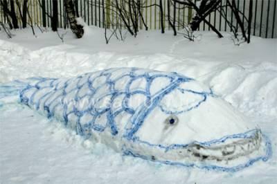 Рисуем красками на снегу