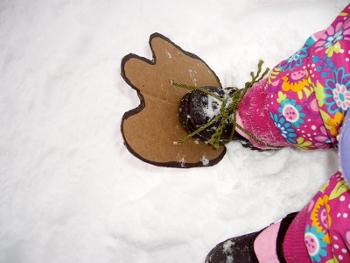 Делаем следы снежного человека