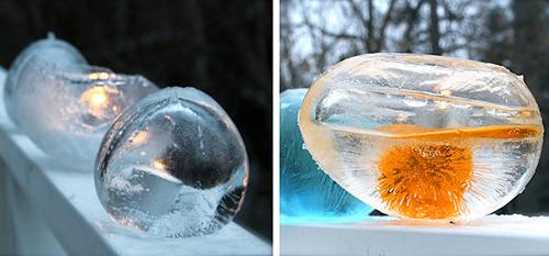 Подсвечник из льда