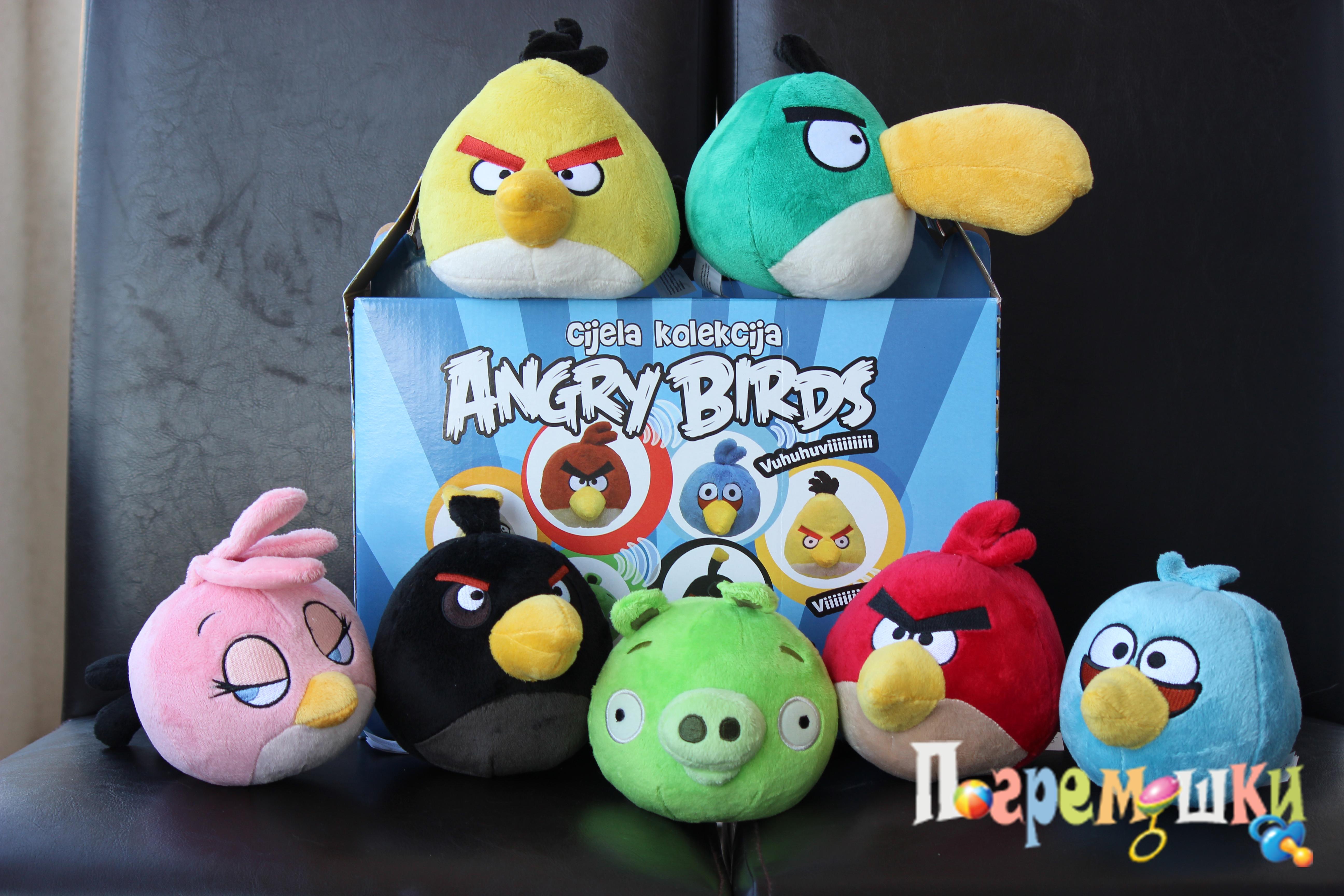 Коллекция мягких Angry Birds