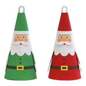 Дед Мороз из бумажного конуса