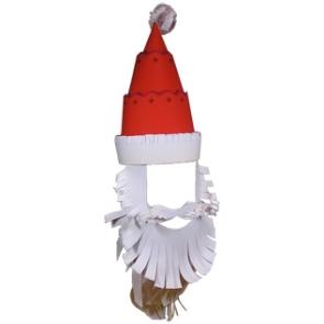 Колпак Деда Мороза из бумаги
