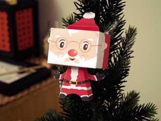Объемный Дед Мороз из бумаги