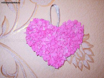 Объемная валентинка на День Святого Валентина