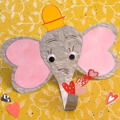 Оригинальная валентинка слоненок своими руками