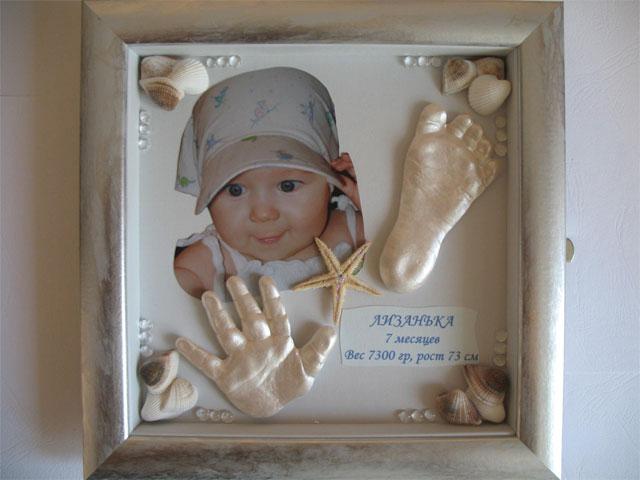 Слепок детской ручки-ножки своими руками фото