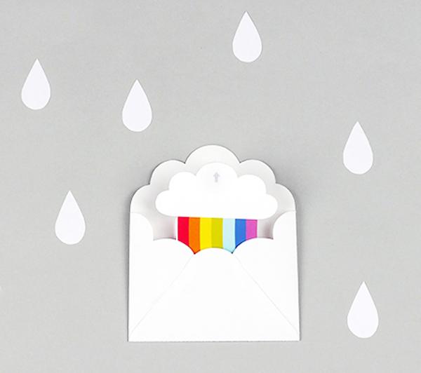 Приглашение в виде радуги