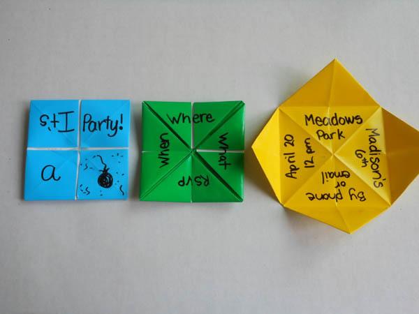 Пригласительные - оригами