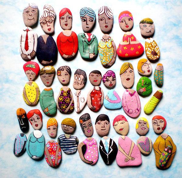 Куклы из камней