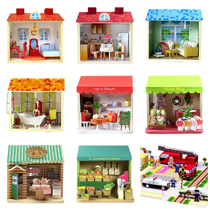 Шаблоны кукольных домиков