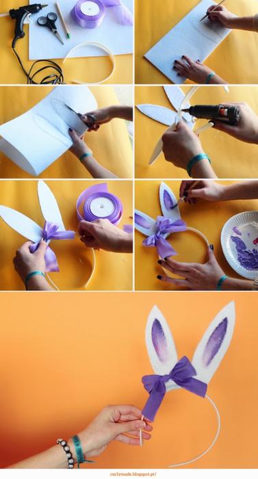 Как сделать ушки кролика из фетра