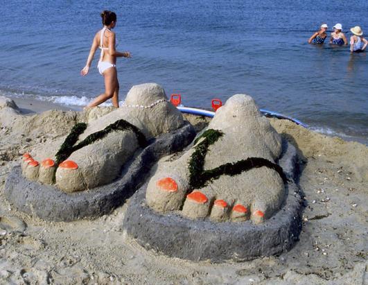 Фигуры из песка для детей