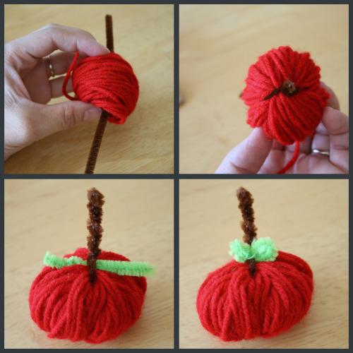 Как сделать яблочко из ниток?