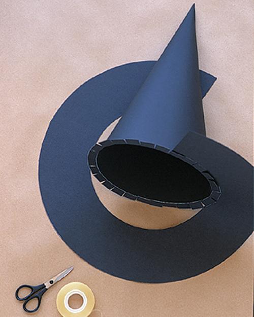 Шляпа ведьмы из бумаги своими руками как