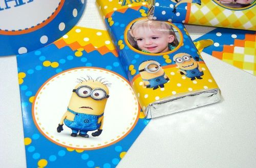 Приглашения на детский день рождения в стиле миньонов