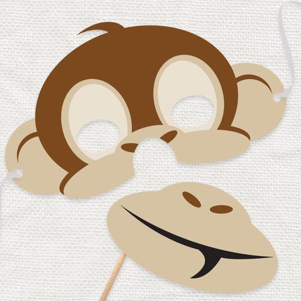 Шаблоны маски обезьяны
