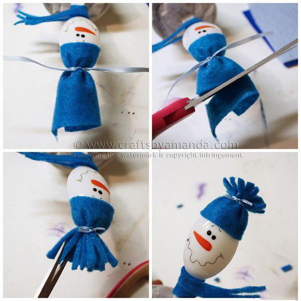 Как сделать шапочку для снеговика