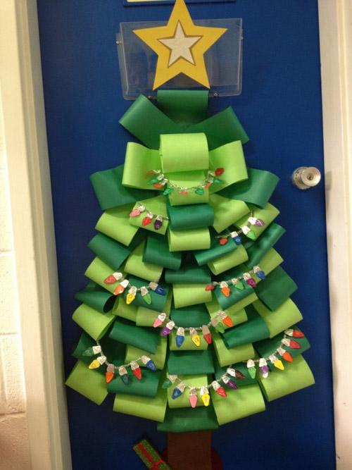 Новогодняя елка на стену из бумаги