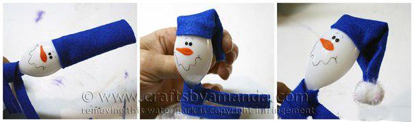 Шапочка для снеговика из фетра