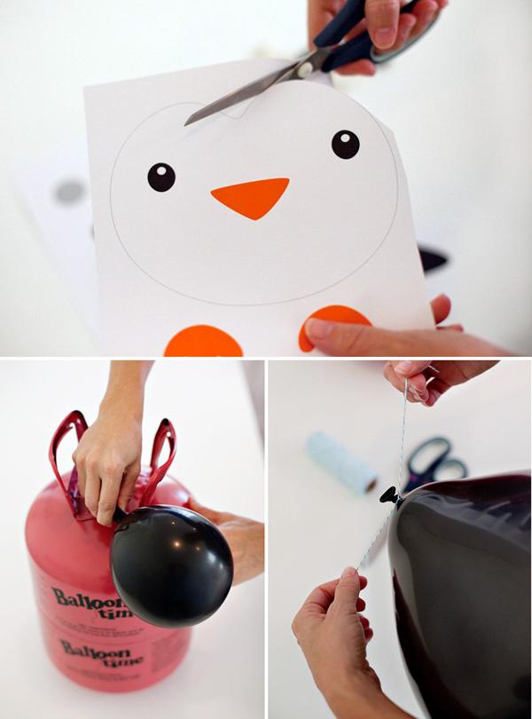 Как сделать пингвина из воздушного шара