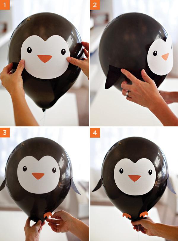 Воздушный шар в виде пингвина