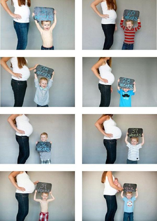 Интересная фото серия для беременной женщины