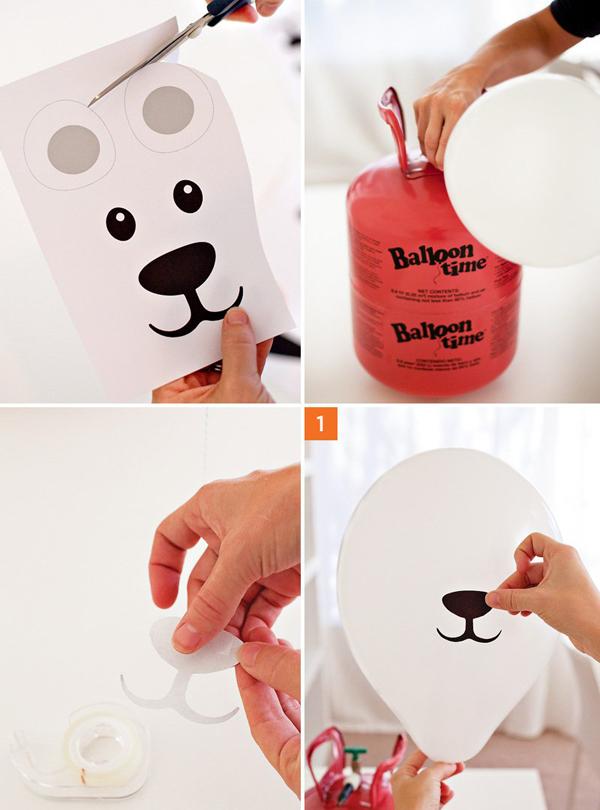 Как сделать мишку из воздушного шара