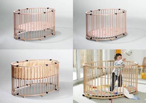 Деревянный манеж-кроватка