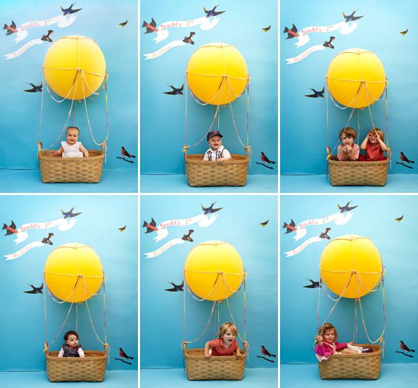 Воздушный шар с корзинкой