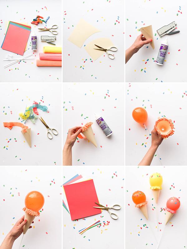 Как сделать мороженое из воздушного шарика