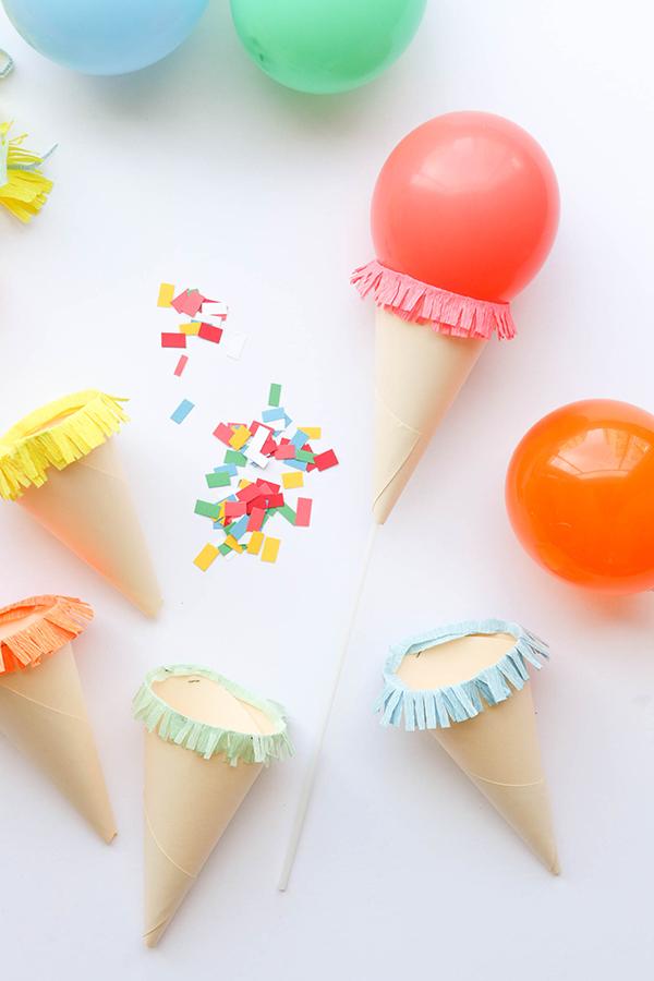 Игрушечное мороженое из шариков