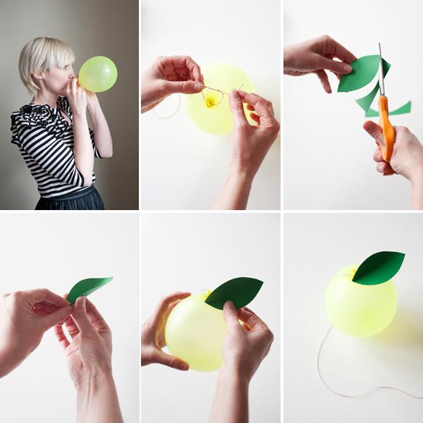 Как сделать яблоко из воздушного шарика