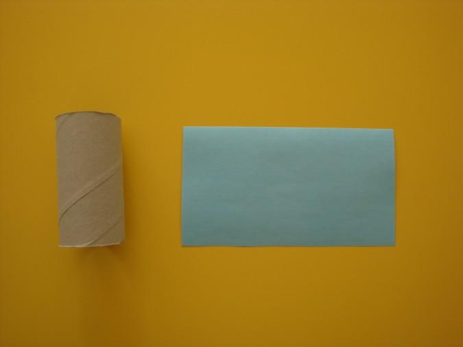 Вазочка из втулки от туалетной бумаги