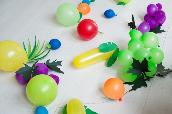 Овощи из воздушных шариков