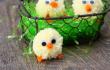 Цыплята из помпонов к Пасхе